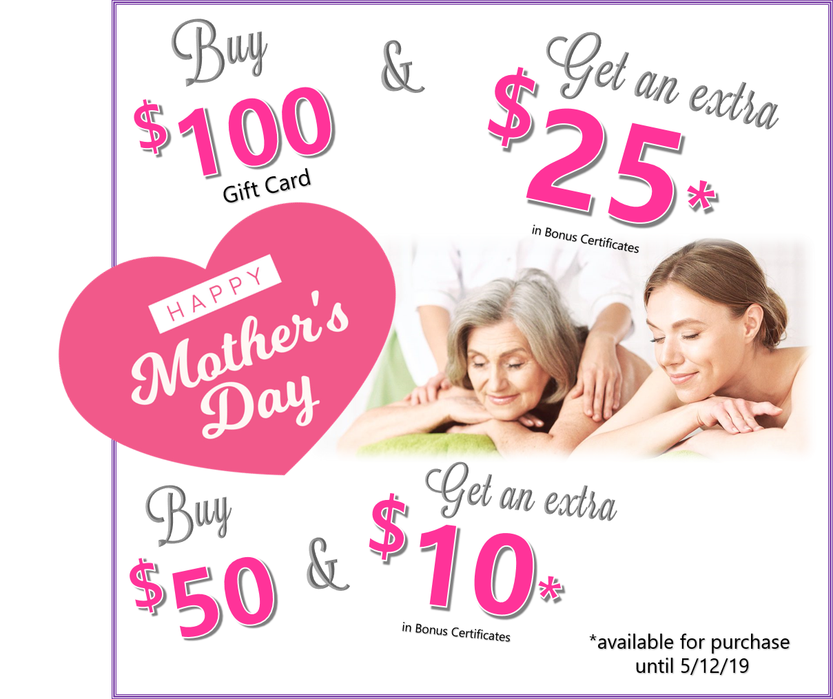 Mothers Day 2019 Offer